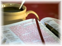 Bible pen coffee