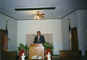 Pastor at FBC in Altoona, Kansas 19180-1996 Charles e Whisnant