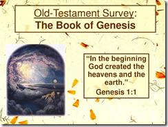 O.T. Book Survey Genesis