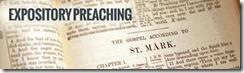 Exposition preaching Mark