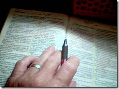 Charles bible and pen
